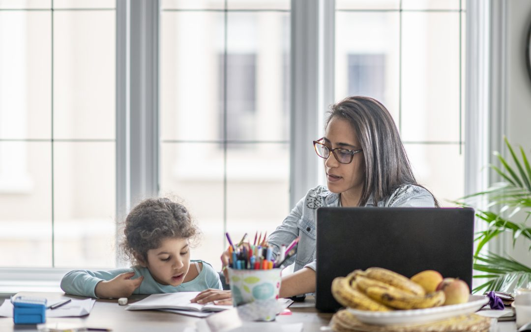 Tips and tricks for working from home with a troop of children.